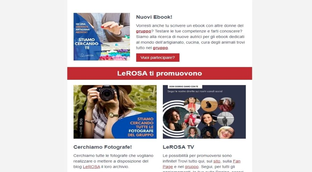 Progetti LeROSA newsletter