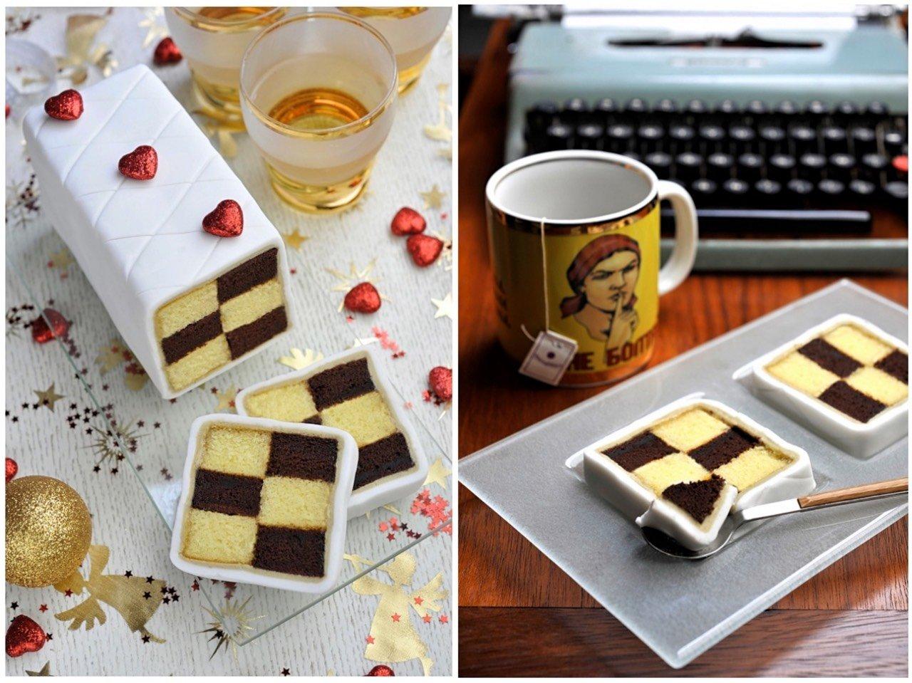 Come fotografare il cibo: Torta Battenberg... Ricetta e Styling di Orsola Ciriello Kogan; Foto di Lucia Zeccara