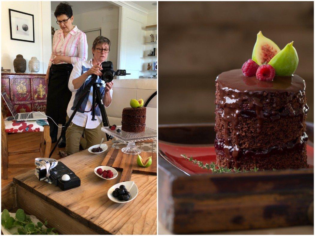 Food Stylist: chi è e cosa fa - dietro le quinte e scatto di una torta al cioccolato