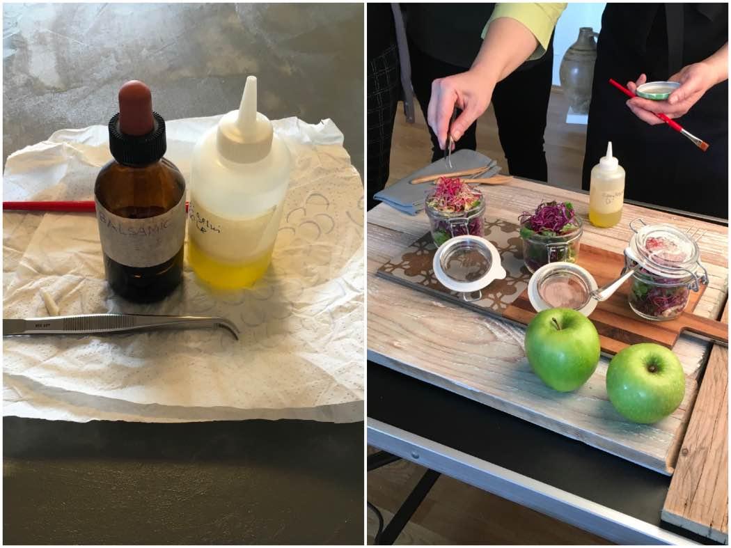 Food Stylist: strumenti del mestiere, pinzetta e pennello