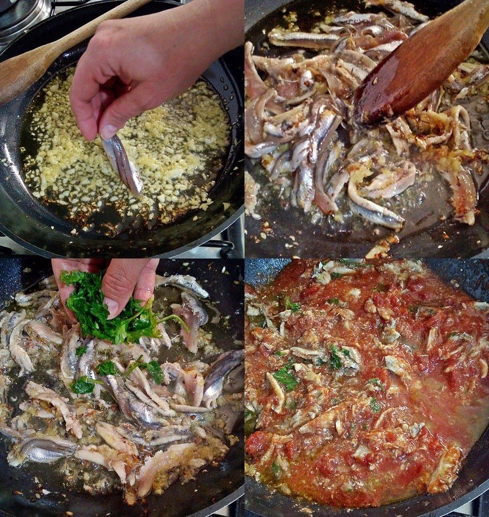 Ricetta spaghetti al sugo di alici