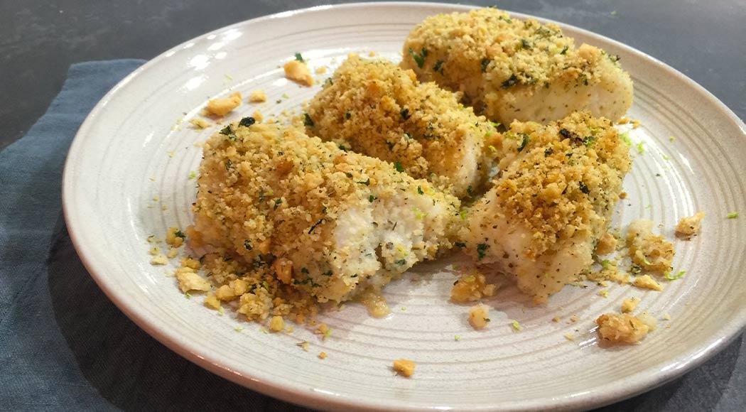 Ricetta dei filetti di merluzzo gratinati al forno