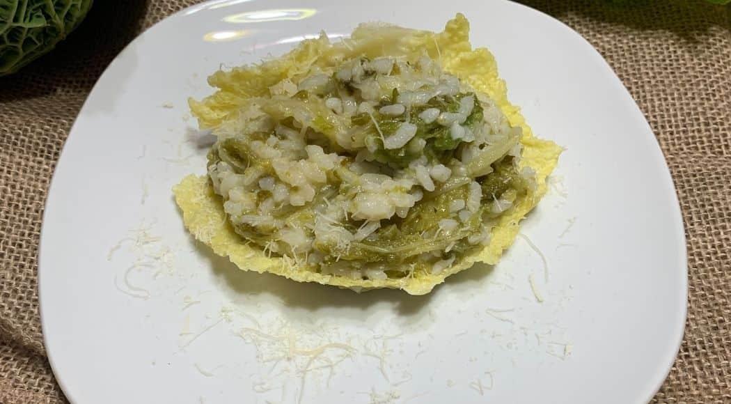 risotto con verza e pecorino