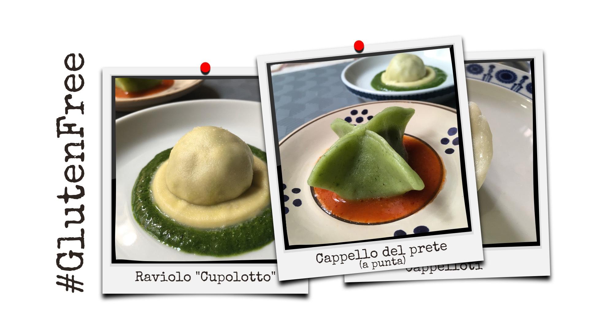 Pasta senza glutine: raviolo cupolotto e cappello del prete, quali farine usare? Ricetta e foto Orsola Ciriello Kogan ©ockstyle