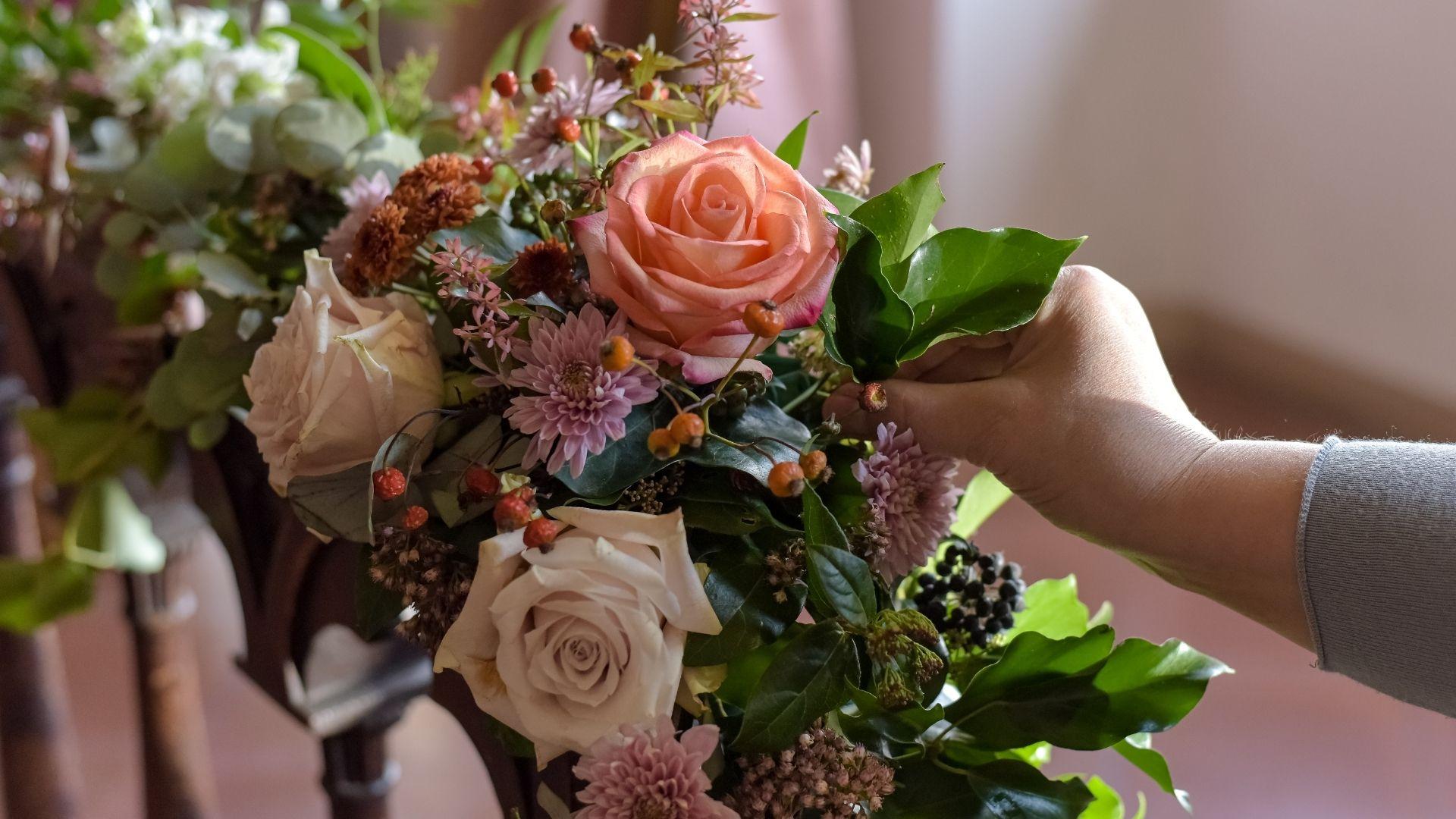 i colori delle decorazioni del matrimonio