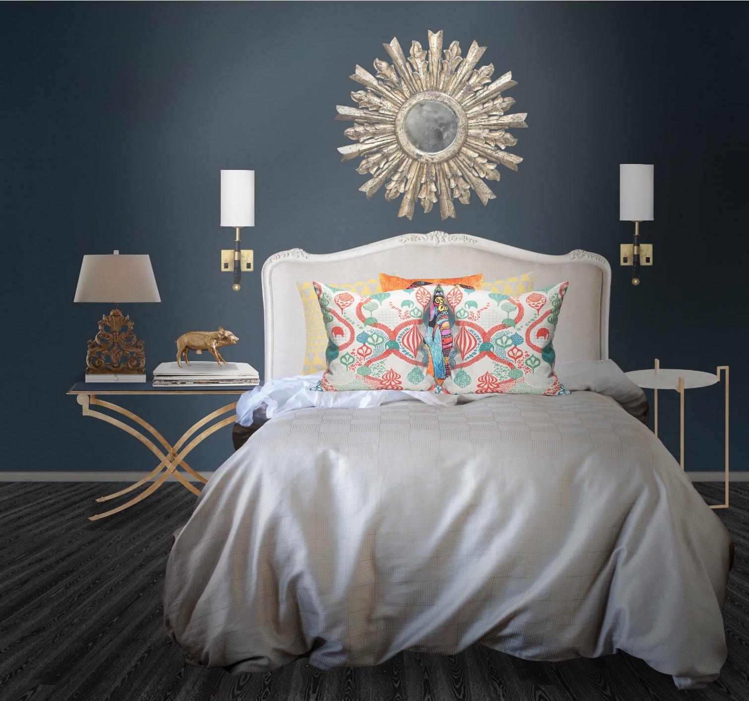 colore blu scuro per camera da letto