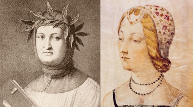 Francesco Petrarca e la sua amata Laura